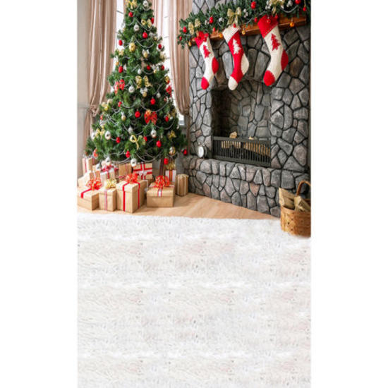 150*210CM Christmas Backdrops Xmas Photo Photography Wall Floor Background Gift