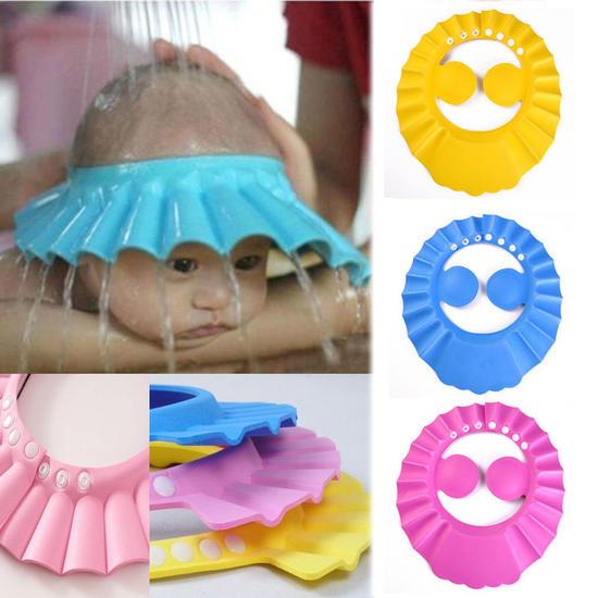 Réglable Bébé Shampooing Bain Douche Chapeau Bonnet Laver Cheveux Bouclier