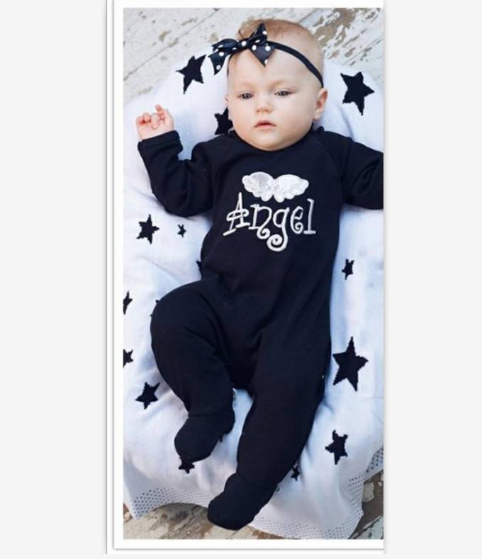 Newborn Baby Girls Boys Angel Wings Romper Bodysuits Jumpsuits