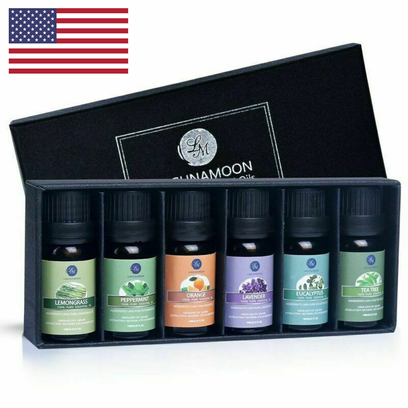 Lagunamoon Natural Essential Oils Top 6 Gift Set Aromatherap