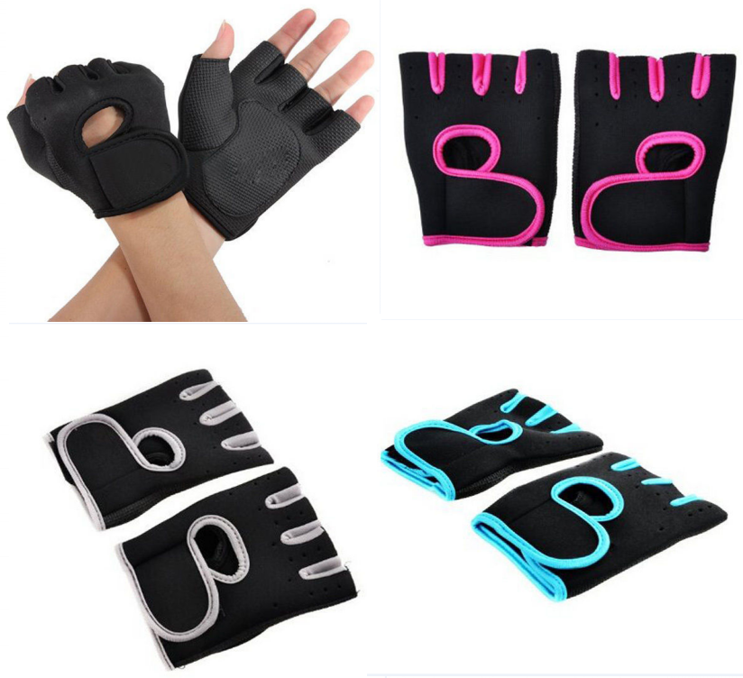 Women Men Work Out Gloves Weight Lifting Gym Sport